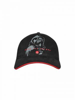 Nón kết đen viền đỏ in logo