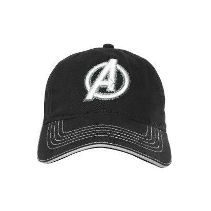 Nón kết đen sọc trắng logo